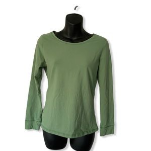 LONG SLEEVE JERSEY TOP WITH CUFFED ARMS